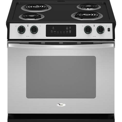 drop in stove whirlpool wde150lvs 30 quot self clean drop in electric