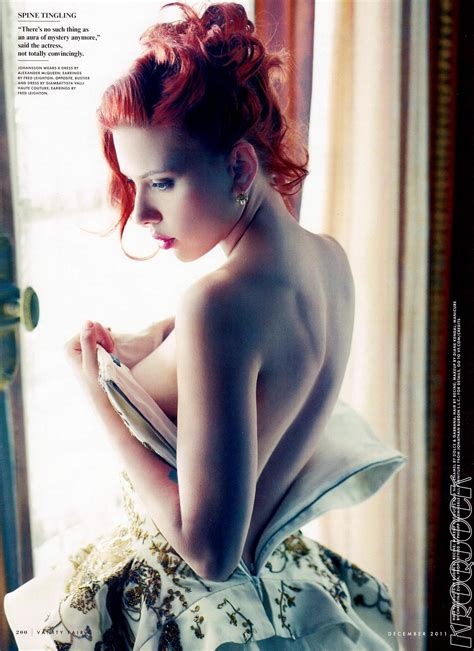 Johansson In Vanity Fair by Johansson But Hiding For The