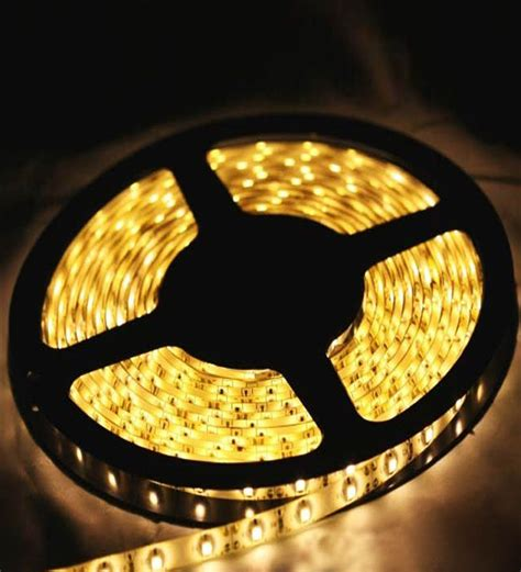 handicraft kottage 5 mt gold led rice strip light with led