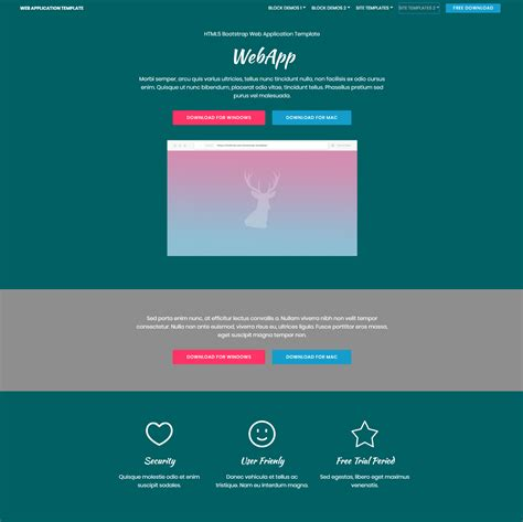 free web templates download
