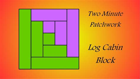 patchwork log cabin easy patchwork block tutorial log cabin
