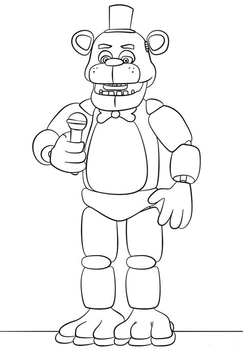 Fnaf 1 Coloring Pages by Bonny Five Nights At Freddys Free Colouring Pages