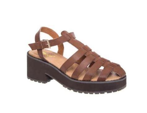 Baru Sepatu Platform Wedges Wanita Sdw75 25 wanted alba mid heel gladiator platform ankle sandal