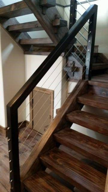 timber frame staircase   tenons held
