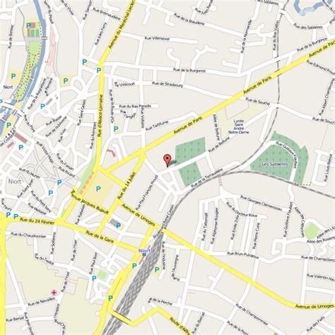 niort carte  image satellite