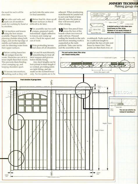 garage door plans woodarchivist