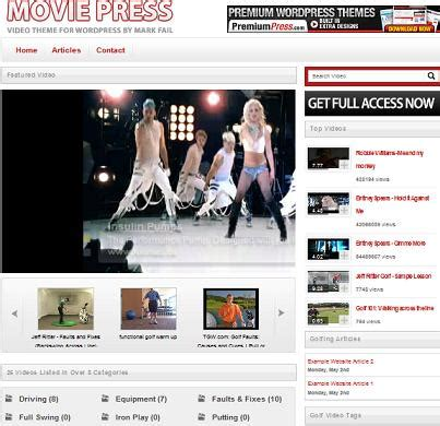 theme wordpress video youtube free cost to create a youtube clone website with moviepress