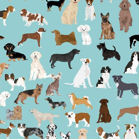lots of dogs dogs light blue lots of breeds breed fabric dogs best fabric quilts