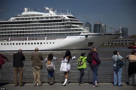 thames river cruise viking viking seap sails up river thames on her way to a naming