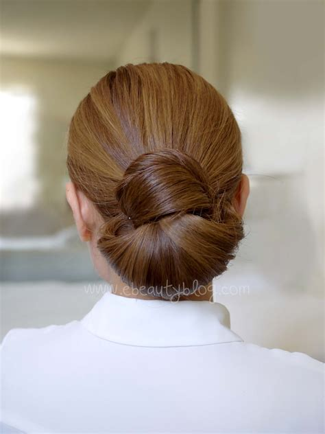 in bun ebeautyblog hair tutorial easy elegance hair bun