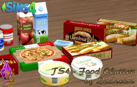 sims 4 food clutter ladesire s creative corner ts4 food clutter by ladesire