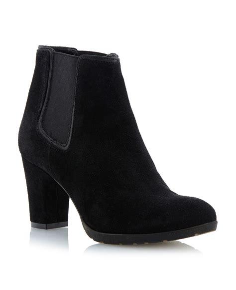 linea pittsburgh block heel ankle boots in black black