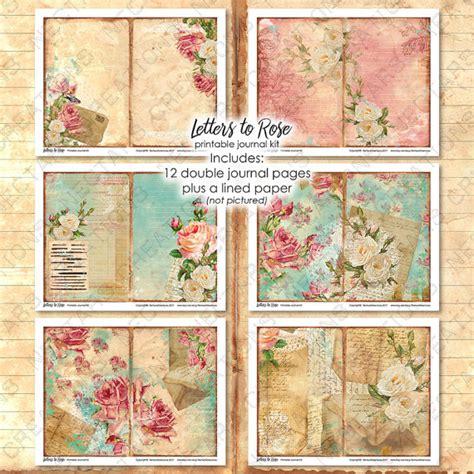 printable journal kits letters to rose vintage printable junk journal kit