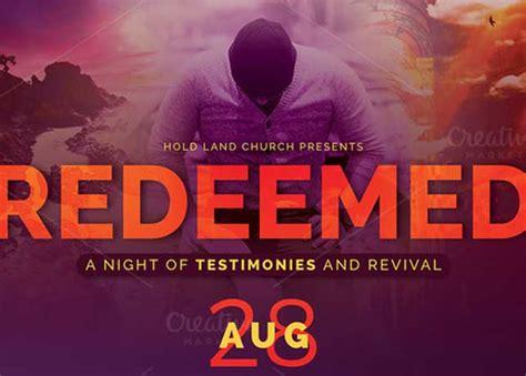 redeemed revival church flyer template inspiks market
