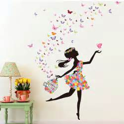 Girls Bedroom Wall Stickers gros fille stickers muraux en ligne 224 des grossistes fille stickers