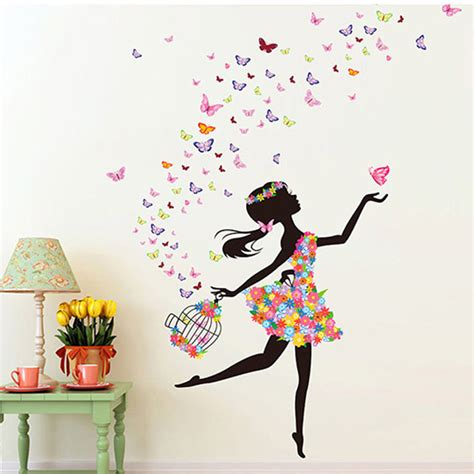 sticker murals for walls fashion modern diy decorative mural pvc butterfly
