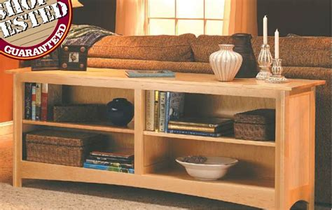 sofa table bookcase woodsmith plans