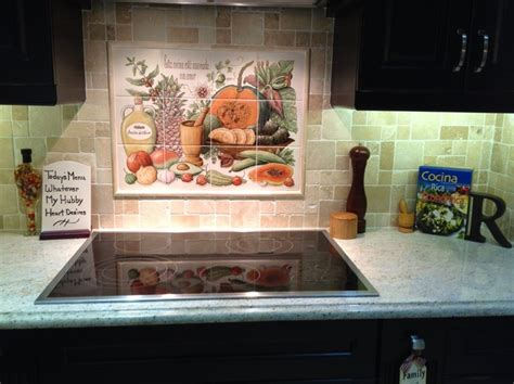 ceramic tile murals for kitchen backsplash quot cookie s cornucopia quot kitchen backsplash tile