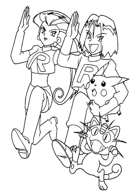 pokemon coloring pages hard coloriage team rocket et pikachu hugolescargot com