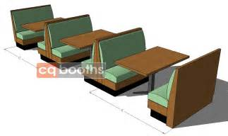 restaurant booth shapes and sizes cqbooths