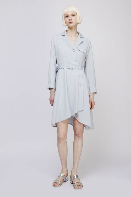 Id Belt Midi Dress Blue dresses from opusion garmentory