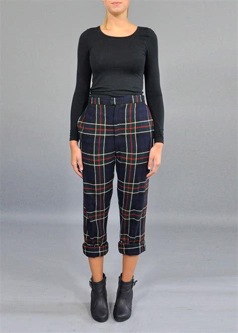 tartan vintage trousers winter vintage trousers