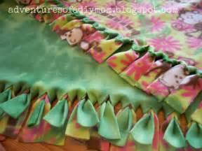 no sew fleece blanket adventures of a diy