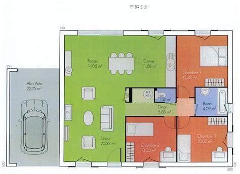 Plan De Maison Plain Pied 2 Chambres 3338 by Plans Des Maisons Des Olivades Les Maisons Des Olivades