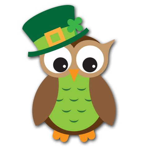 st patrick s day owl clipart clipart suggest