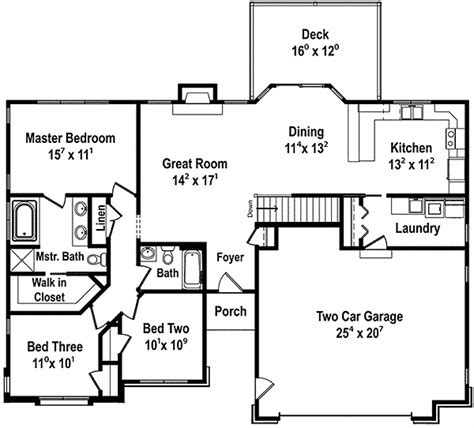 1500 sq ft ranch house plans craftsman inspired ranch home plan 18232be