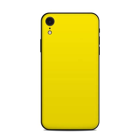 apple iphone xr skin solid state yellow  solid colors