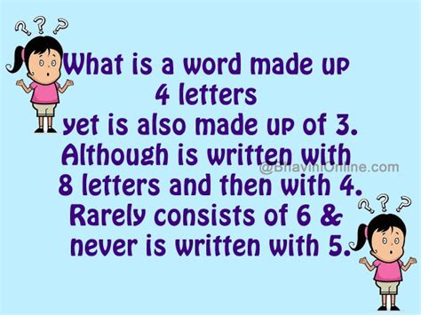 4 Letter Words Riddle word riddles what is a word made up 4 letters