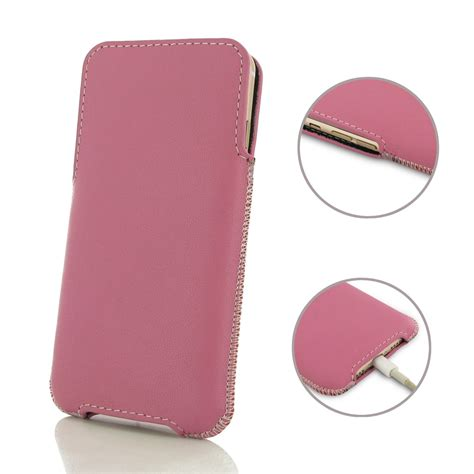 Pink Pouch iphone 7 plus leather pocket pouch petal pink pdair sleeve