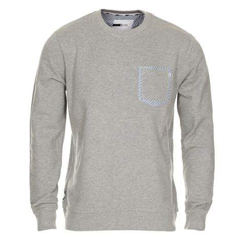 Plain Sweatshirt mens light grey patch plain sweatshirt