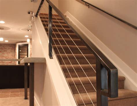 modern interior railing interior cable stair railing kits metal contemporary