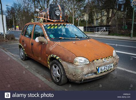 opel rat quot rat style quot opel corsa parked on roadside in meerbusch