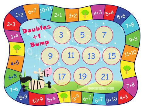 printable doubles games printable addition game ideal for doubles doubles 1