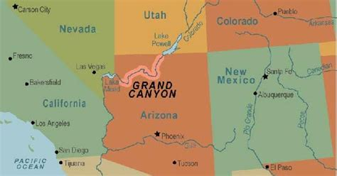 grand map arizona places grand