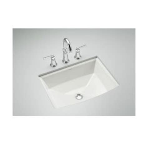 Kohler K 2355 47 Almond Archer 17 5 8 Quot Undermount Bathroom Sink With Overflow Faucetdirect Com Kohler Archer Undermount Sink Template