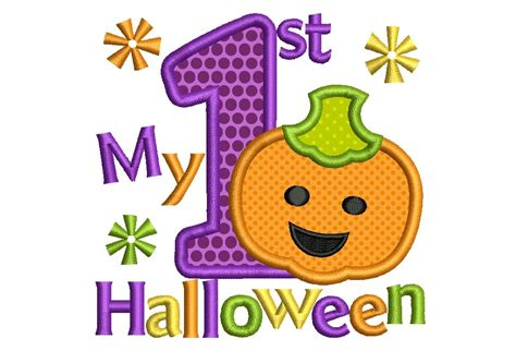 My First Halloween My First Halloween Applique Embroidery Design Ha012