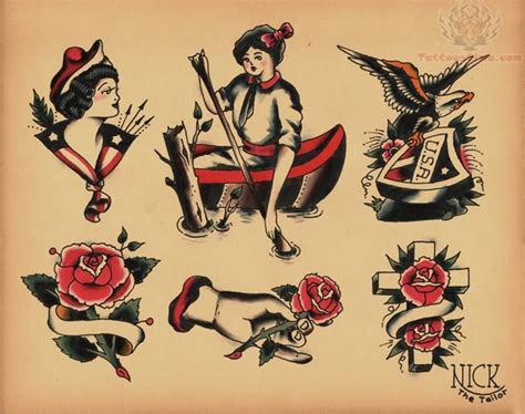 old school cross tattoo school images designs