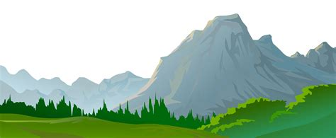 mountain scenery   clip art   transparent