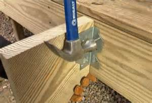 How To Attach Stair Stringers by Build A Deck Part 5 Building Deck Stairs
