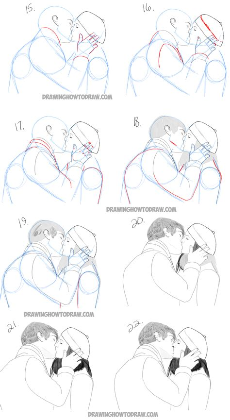 tutorial kiss drawing people archives how to draw step by step drawing