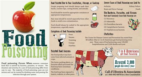 food poisoning symptoms food poisoning facts and symptoms infographic