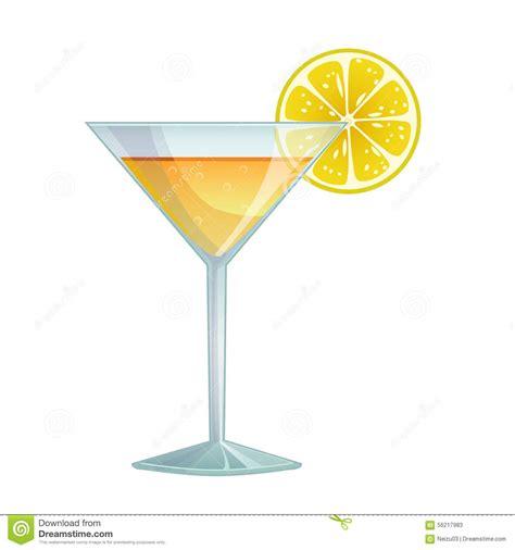 cocktail cartoon cocktail with lemon stock illustration image of freshness