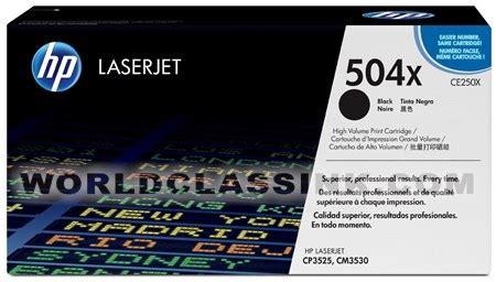 Toner Hp Original 504x Ce250x Black Laserjet Cartridge hp color laserjet cp3525n supplies color laser jet cp3525n