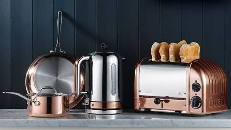 rose gold kitchen appliances dualit unveils new classic kettle with changeable element