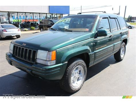 green jeep cherokee 1998 jeep grand cherokee limited 4x4 in forest green