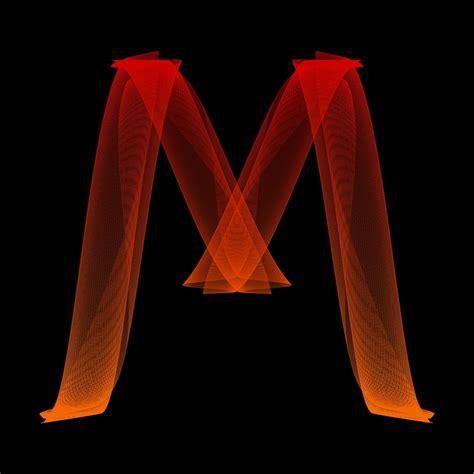 lettere m illustration gratuite lettre m particules alphabet